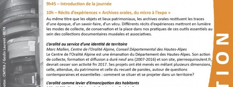 Invitation Archives orales(1)